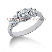 14K Gold Diamond Engagement Ring Setting 0.36ct