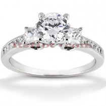 14K Gold Diamond Engagement Ring Setting 0.48ct