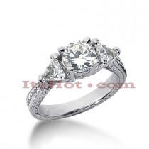 14K Gold Diamond Engagement Ring Setting 0.50ct