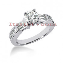 14K Gold Diamond Engagement Ring Setting 0.56ct