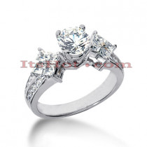 14K Gold Diamond Engagement Ring Setting 0.64ct