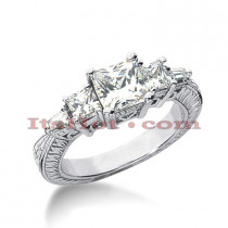 14K Gold Diamond Engagement Ring Setting 0.66ct
