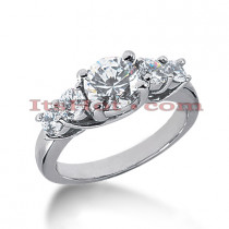 14K Gold Diamond Engagement Ring Setting 0.70ct