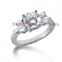 14K Gold Diamond Engagement Ring Setting 0.80ct