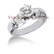 14K Gold Diamond Engagement Ring Setting 0.84ct