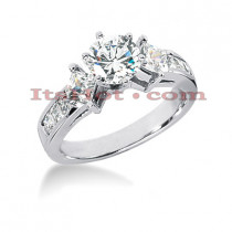 14K Gold Diamond Engagement Ring Setting 0.96ct