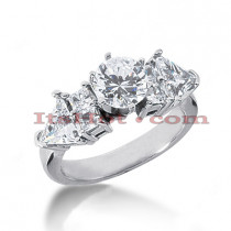 14K Gold Diamond Engagement Ring Setting 0.98ct