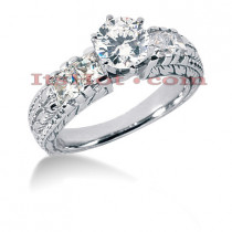 14K Gold Diamond Engagement Ring Setting 1.08ct