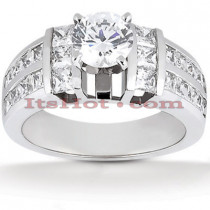 14K Gold Diamond Engagement Ring Setting 1.10ct