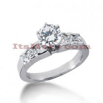 Thin 14K Gold Diamond Engagement Ring Setting 1ct