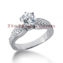 14K Gold Diamond Engagement Ring Setting