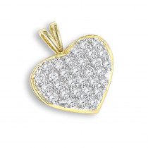 14K Gold 1 Carat Diamond Heart Pendant by Luxurman