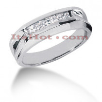 14K Gold Diamond Men's Wedding Ring 0.50ct