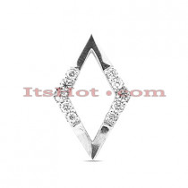 14K Gold Diamond Shape Pendant 0.12ct