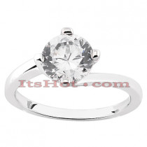 14K Gold Diamond Solitaire Engagement Ring 0.50ct