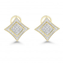 14K Gold Diamond Stud Earrings 1ct
