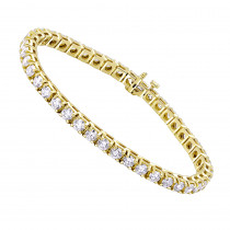 14K Gold Diamond Tennis Bracelet Round Diamonds 9.72ct
