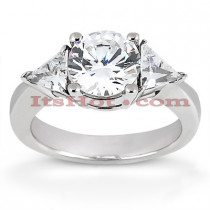 14K Gold Diamond Three Stones Engagement Ring 0.80ct