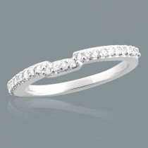Ultra Thin 14K Gold Diamond Unique Engagement Band 0.24ct