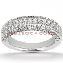 14K Gold Diamond Unique Engagement Band 1.05ct