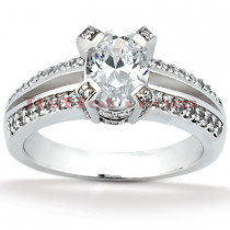 14K Gold Diamond Unique Engagement Ring 1.17ct
