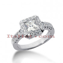 14K Gold Diamond Unique Engagement Ring 1.67ct