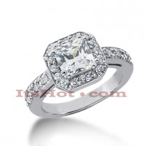 14K Gold Diamond Unique Engagement Ring 1.81ct