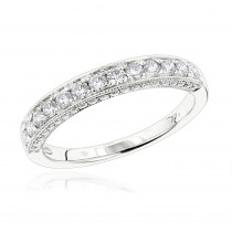 14K Gold Diamond Wedding Band for Women by Luxurman 0.75ct