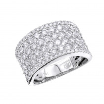 14K Gold Diamond Wedding Band or Cocktail Ring For Women 3ct by Luxurman