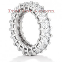 14K Gold Emerald Cut Diamond Eternity Band 6.65ct