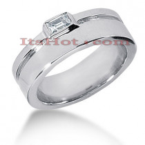 14K Gold Emerald Cut Diamond Men's Wedding Ring 0.33ct