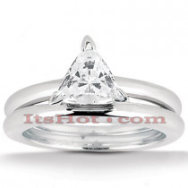 14K Gold Engagement Ring Mounting and Band Set
