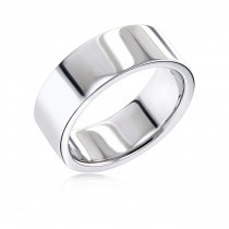 14K Gold Flat Comfort Fit Wedding Ring for Men