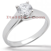 14K Gold Four-Prong Solitaire Engagement Ring 0.50ct
