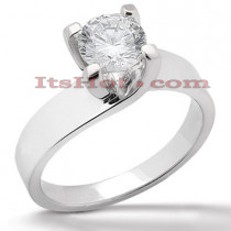 14K Gold Four-Prong Solitaire Engagement Ring 1.25ct