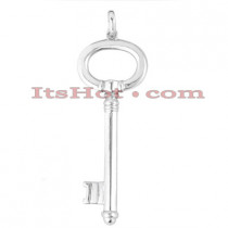 14K Gold Key Pendant