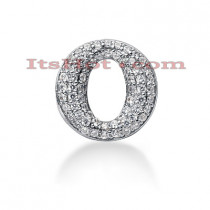 14K Gold Ladies Circle Diamond Pendant 0.81ct