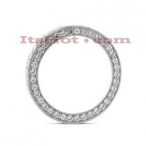 14K Gold Ladies Circle Diamond Pendant 1.11ct