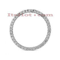 14K Gold Ladies Circle Diamond Pendant 1.26ct