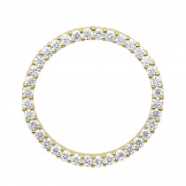 14K Gold Ladies Circle Diamond Pendant 1.80ct