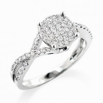 14K Gold Ladies Diamond Engagement Ring 0.68ct