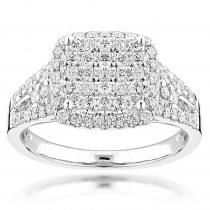 14K Gold Ladies Diamond Engagement Ring 1.2ct