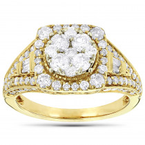 14K Gold Ladies Diamond Engagement Ring 2ct