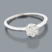 14K Gold Ladies Diamond Flower Ring 0.30ct