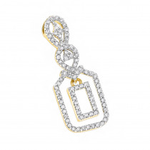 14K Gold Ladies Diamond Pendant 0.26ct