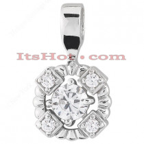14K Gold Ladies Diamond Pendant 0.50ct