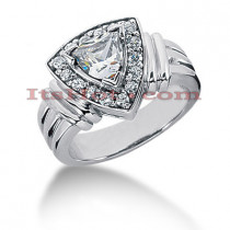 14K Gold Ladies Diamond Ring 0.76ct
