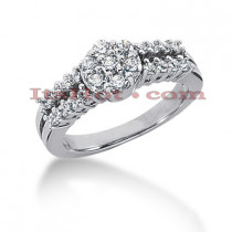 14K Gold Ladies Diamond Ring 0.97ct