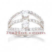 14K Gold Ladies Diamond Ring 1.54ct