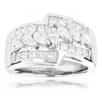 14K Gold Ladies Diamond Ring 1.90ct